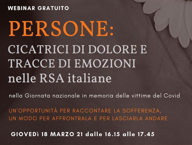 Persone: cicatrici di dolore e tracce di emozioni nelle Rsa italiane